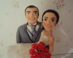 Casal de noivo de biscuit