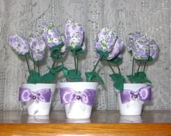 vaso de tulipas lil�s