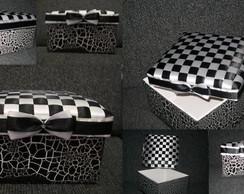 Caixa de MDF com tampa decorada com fita
