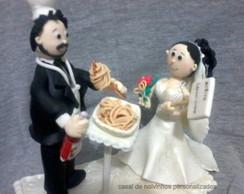 pronta entrega casal de noivinhos