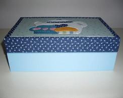 Caixa de ch� Azul po�