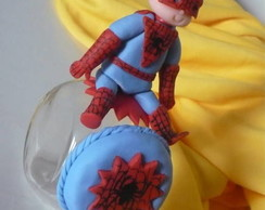 Mini baleiro de vidro Homem-aranha