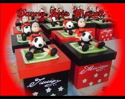 Caixinha do Flamengo com biscuit