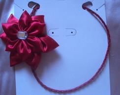 Tiara vermelha de couro!
