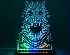 Lumin�ria Personalizada Rel�gio Coruja