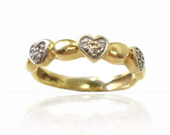 Anel Floq love em ouro 18K*