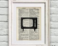 Poster P�gina Dicion�rio Vintage TV
