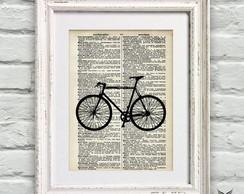 Poster P�gina Dicion�rio Vintage Bike