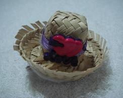 Mini chap�u caipira com bico de pato