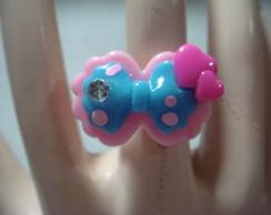 Lindo anel infantil la�o azul regul�vel