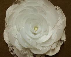 Rendas - flores de tecido cetim duchese