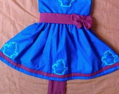 vestido galinha pintadinha azul royal