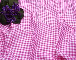 Toalha de mesa xadrez rosa