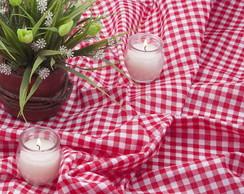 Toalha de mesa xadrez vermelho