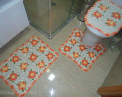 Jogo de banheiro - Flores BNH 041