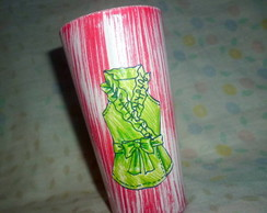 Porta treco  de vidro reciclado