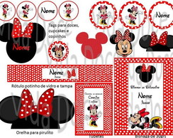 Kit Digital da Minnie Vermelha