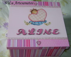 Caixa decorada com Scrap