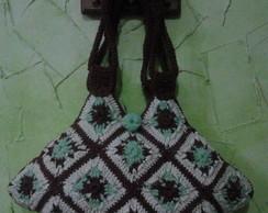 bolsa em croch� com linha de algod�o