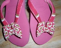 chinelos customizados em la�os