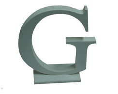 letra ( G ) em mdf