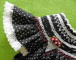 Vestido de Beb� 'Nega Maluca'