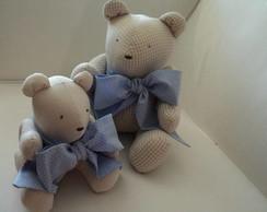 Ursinhos ! Fam�lia bege c/ la�os azuis