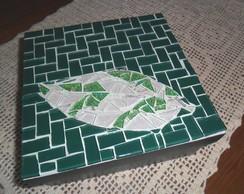 caixa porta trecos folha verde
