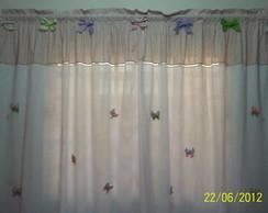 Cortina la�os e borboletas