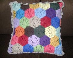 Capa de almofada Mosaicos de Croch�