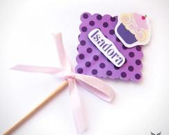 Palito Decorativo Cupcake Uva