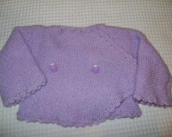 Casaquinho croch� e tric� para beb�