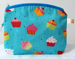 N�cessaire cupcakes azul