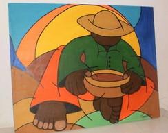 018 - Pintura em tela 100cmx80cm