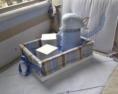 Ref 1748 Kit de Higiene Xadrez Azul/cac