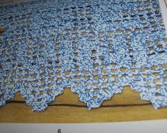 tapete seja bem vindo em barbante azul