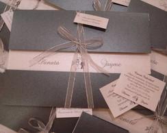 Convite de Casamento - Vazado Metalizado