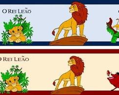 Faixa decorativa O Rei Le�o.