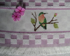 Pano de prato - Beija-flor verde