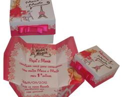 Convite na caixinha Barbie Moda e Magia.