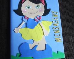 Caderno de Mensagens Tema Princesas