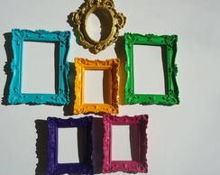 conjunto molduras proven�ais coloridas-