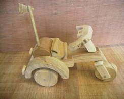 moto triciclo de madeira