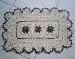 Tapete Branco e Preto - Croch�