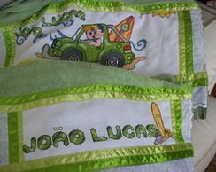 Jogo de toalhas bordado personalizado