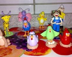 topo de bolo turma galinha pintadinha