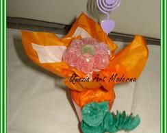 Vasinho de flor com bala jujuba