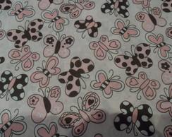 Tecidos rosa e marrom