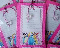 Convite Marcador - Princesas
