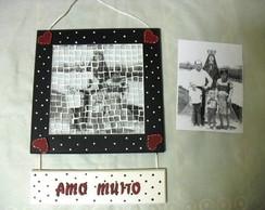 Quadro com Foto em Mosaico